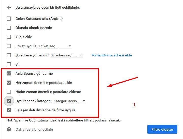 Network Okulu spam e postaları engelleme