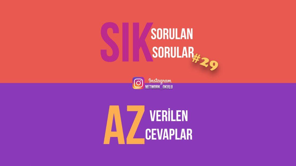 Instagram Soru/cevap etkinliği 29. hafta