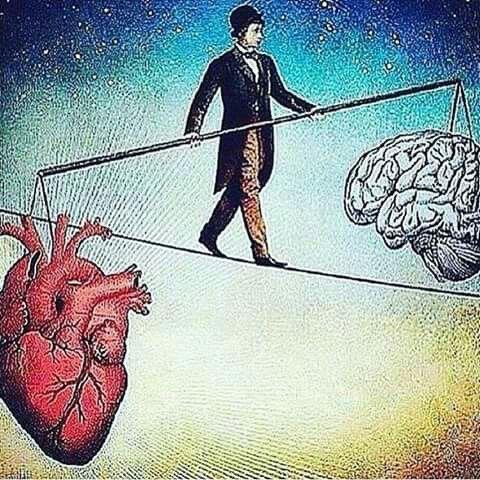 Hayatta bazen aklımızla hareket ederiz bazende kalbimizle, ancak aklımız bize her zaman realist davranır.