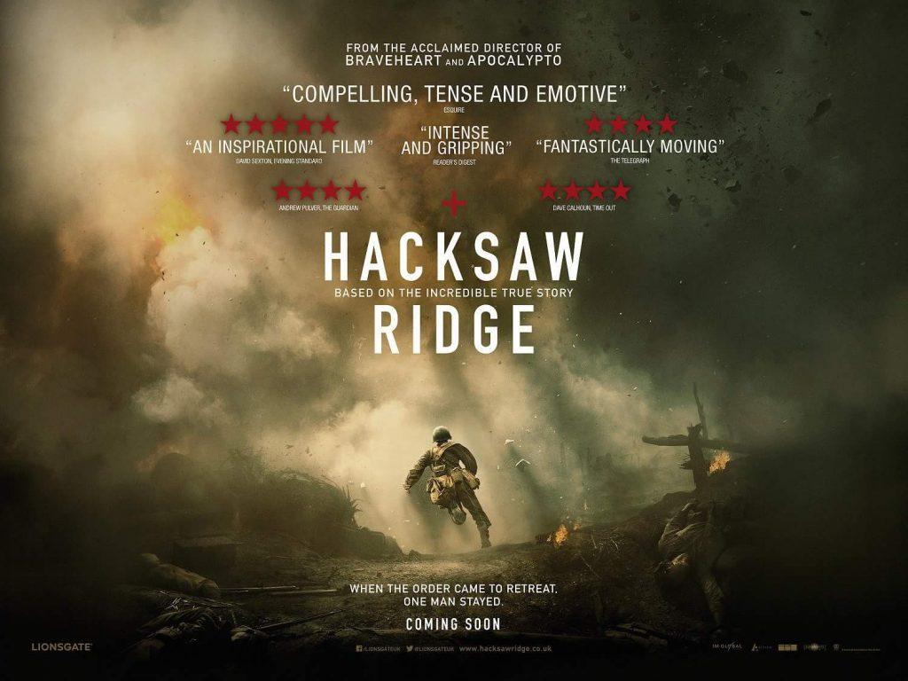Savaş Vadisi - 2016 yılının etkileyici yapımlarından olan bu film, İkinci Dünya Savaşı'na gönüllü olarak katılan bir asker olan pasifist Desmon T. Doss'un, silah kullanmadan da savaş kahramanı olunabileceğini öyküsünü gözler önüne seriyor.