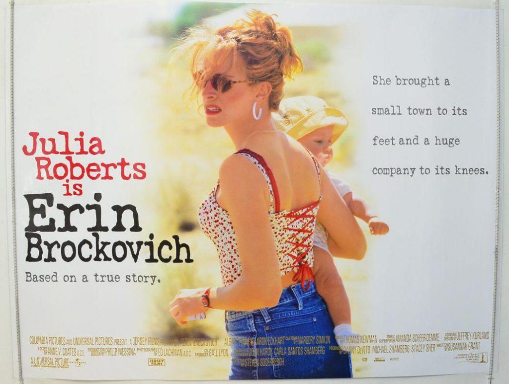 Tatlı Bela - Yönetmenliğini Steven Soderbergh'in yaptığı ve başrolündeki Julia Roberts'a oscar kazandıran, gerçek Erin Brockovich'in bir garson olarak karşımıza çıktığı 2000 yapımı bu yapım, gerçek bir azim ve başarı hikayesini konu alıyor.